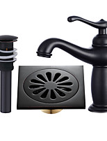 Centerset Widespread with  Ceramic Valve Single Handle One Hole for  Oil-rubbed Bronze , Bathroom Sink Faucet