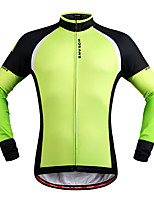Cycling Jersey Unisex Long Sleeves Bike Jersey Top Reflective Strip Quick Dry Stretchy Breathability Polyester Fleece Classic Autumn/Fall