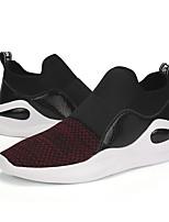Для мужчин обувь Ткань Весна Осень Удобная обувь Кеды Шнуровка Назначение Повседневные Черный Серый Красный