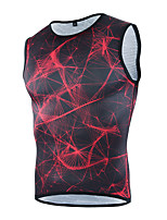 cheji® Cycling Jersey Men's Sleeveless Bike Tank Quick Dry Breathability Stretchy Fashion Summer Running/Jogging Mountain Cycling Road
