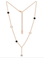 Women's Strands Necklaces Cubic Zirconia Zircon Rose Gold Plated Fashion Personalized Jewelry For Wedding Office & Career