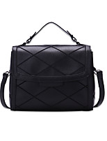 Women Bags All Seasons PU Shoulder Bag for Casual Office & Career Black Red Beige