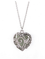 Women's Pendant Necklaces Heart Rhinestone Alloy Love Cute Style Jewelry For Wedding Birthday