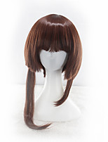 Women Synthetic Wig Capless Medium Long Straight Medium Auburn Bob Haircut Layered Haircut Party Wig Halloween Wig Cosplay Wig Costume Wig