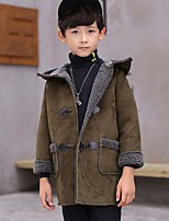 Boys' Solid Suit & Blazer,PU Cotton Fall Winter Long Sleeve