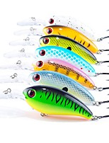 7 pcs Fishing Lures Hard Bait Crank g/Ounce,100 mm/4