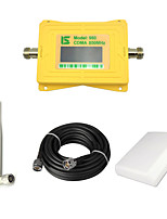 Intelligent Display Mobile Phone CDMA 800mhz Signal Booster 850mhz Signal Repeater Amplifier with Omni Antenna / Panel Antenna / 15m Cable Yellow