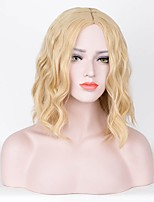 Women Synthetic Wig Capless Short Curly Blonde Silk Base Hair Middle Part Pixie Cut Party Wig Celebrity Wig Cosplay Wig Natural Wigs