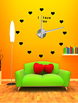 Modern/Contemporary Country Casual Office/Business Others Fairytale Theme Romance Fashion Wall Clock,Heart-Shaped EVA Stainless steel