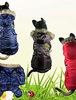 Cane Cappottini Abbigliamento per cani Tenere al caldo Polizia/Forze armate Caffè Rosso Blu