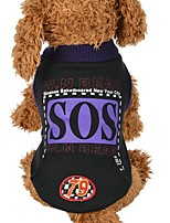 Dog Vest Dog Clothes Casual/Daily Letter & Number Black