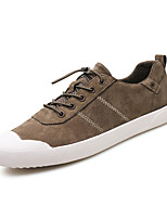 Men's Shoes Leather Spring Fall Comfort Sneakers For Casual Office & Career Camel Gray Black