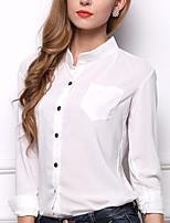 Camicia Da donna Per uscire Casual Semplice Romantico Estate Autunno,Con stampe Colletto alla coreana Poliestere Manica lunga Medio