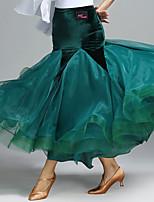 Ballroom Dance Tutus & Skirts Women's Performance Velvet 1 Piece Natural Skirts