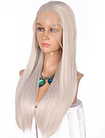 Women Synthetic Wig Lace Front Long Straight Grey Natural Hairline Cosplay Wig Natural Wigs Costume Wig