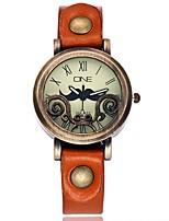 Per donna Orologio alla moda Orologio da polso Creativo unico orologio Cinese Quarzo Pelle Banda Vintage Stile Boho Casual classe Nero