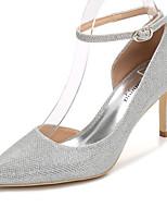 Da donna Scarpe Lustrini Primavera Autunno Decolleté Cinturino alla caviglia scarpe da sposa A stiletto Appuntite Per Matrimonio Serata e