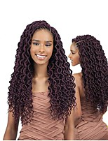 Dread Locks Hair Braid Crochet Curly 100% kanekalon hair 100% Kanekalon Hair Auburn Burgundy Blonde Medium Auburn Strawberry Blonde 18