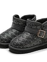 Fille Chaussures PU de microfibre synthétique Hiver Bottes de neige Bottes à la Mode Botillons Doublure fluff Bottes Bottine/Demi Botte
