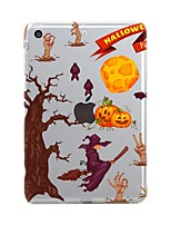 billige -Til iPad (2017) Etuier Transparent Mønster Bagcover Etui Halloween Blødt TPU for Apple iPad (2017) iPad Pro 12.9'' iPad Pro 9.7 '' iPad