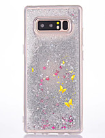 For Case Cover Flowing Liquid Pattern Back Cover Case Butterfly Glitter Shine Hard PC for Samsung Galaxy Note 8 Note 5 Note 4 Note 3