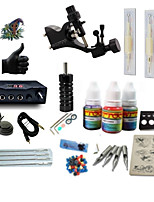 starter tattoo kits 1 rotary machine liner & shader LCD power supply 5 x tattoo needle RL 3 Complete Kit