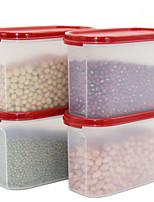 4 Kitchen Plastic Food Storage
