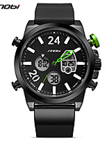 SINOBI Men's Sport Watch Digital Watch Casual Watch Chinese Digital LED Calendar Water Resistant / Water Proof Dual Time Zones Large Dial