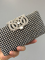 Women Bags All Seasons Glasses Evening Bag Crystal Detailing for Wedding Event/Party Black