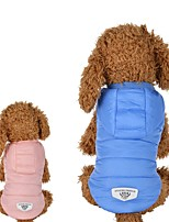 Dog Vest Dog Clothes Casual/Daily Solid Blushing Pink Blue