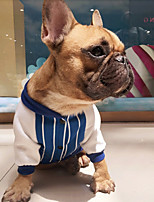 Dog Sweatshirt Dog Clothes Casual/Daily Stripe Blue Red