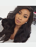 Women Human Hair Lace Wig Brazilian Human Hair Full Lace Glueless Full Lace 130% Density With Baby Hair Body Wave Wig Black Short Medium