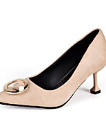 Для женщин Обувь Полиуретан Осень Удобная обувь Обувь на каблуках На шпильке Заостренный носок Назначение Повседневные Черный Желтый Хаки