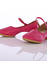 Damen Jazz Kunstleder Sneaker Im Freien Maßgefertigter Absatz Fuchsia Maßfertigung