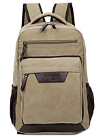 Unisex Bags All Seasons Canvas Backpack Zipper for Casual Outdoor Black Military Green Coffee Khaki