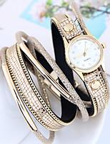 Per donna Orologio alla moda Orologio braccialetto Quarzo Pelle Banda Casual Nero Bianco Rosso Marrone Rosa
