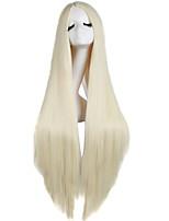 жен. Парики из искусственных волос Без шапочки-основы Длиный Прямые Блондинка Парики для косплей Парики к костюмам