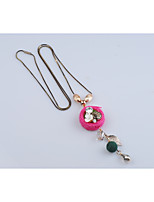 Women's Pendant Necklaces Flower Crystal Alloy Fashion Simple Style Jewelry For Gift Daily