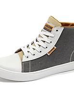Для мужчин обувь Деним Весна Лето Удобная обувь Кеды Шнуровка Назначение Повседневные Черный Серый Синий