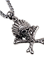 Men's Women's Statement Necklaces Jewelry Skull Alloy Fashion Simple Style Jewelry For Gift Casual Going out