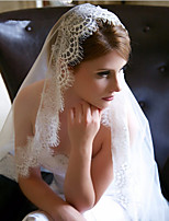 Wedding Veil One-tier Elbow Veils Chapel Veils Lace Applique Edge Tulle
