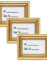 3pcs/set - Wedding Anniversary Metal Photo Frame Place Card Holder 4 x 3 inch Beter Gifts® DIY Wedding Party Decoration
