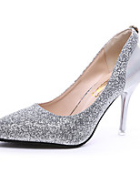 Women's Shoes PU Spring Summer Basic Pump Comfort Heels Flat Heel Pointed Toe For Office & Career Party & Evening Dress Silver Black Gold