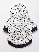Dog Hoodie Dog Clothes Casual/Daily Geometic Black White