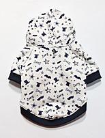 Cane Felpe con cappuccio Abbigliamento per cani Casual Geometrico Bianco Nero