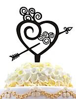 Bolo de acrílico inserir bolo de amor com decoração de amor de bolo