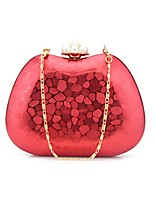Women Bags All Seasons PU Shoulder Bag Beading Crystal Detailing for Event/Party Formal Gold Black Silver Red