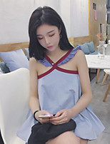 Women's Casual/Daily Simple Tank Top,Solid V Neck Sleeveless Others
