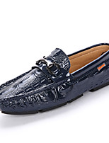 Men's Shoes Real Leather Cowhide Spring Fall Comfort Loafers & Slip-Ons Studded For Casual Party & Evening Blue Black