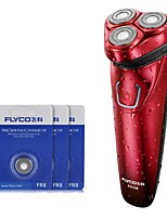 FLYCO FS338 Electric Razor Shaver Three Spare Heads 100240V Washable